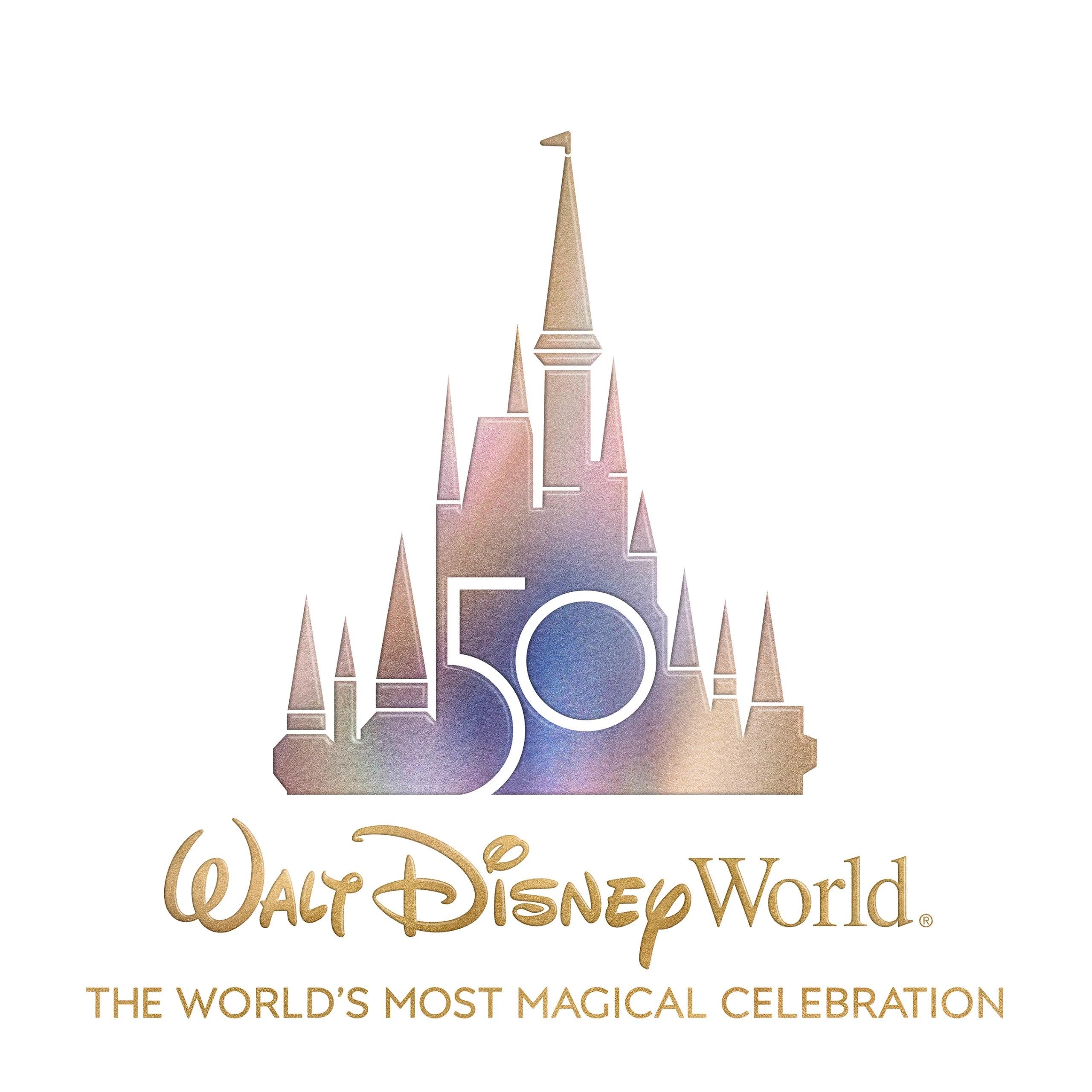 wdw 50 aniversario logo oficial